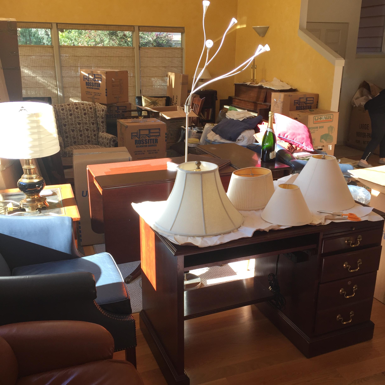 Living room before unpacking