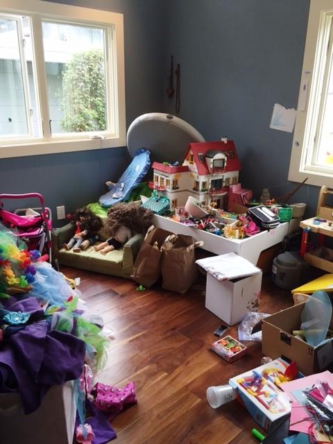 Playroom before organizing