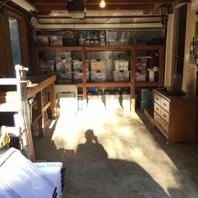 Garage after unpacking