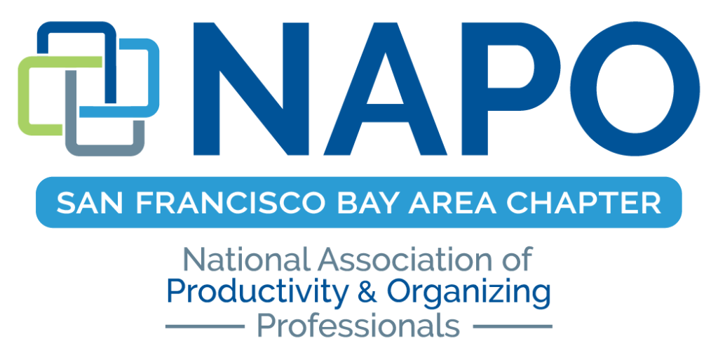 Logo for the San Francisco Bay Area Chapter of the National Association of Productivity and Organizing Professionals