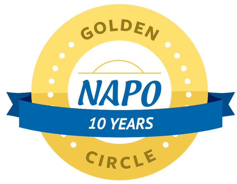 10 year member of the National Association of Productivity and Organizing Professionals