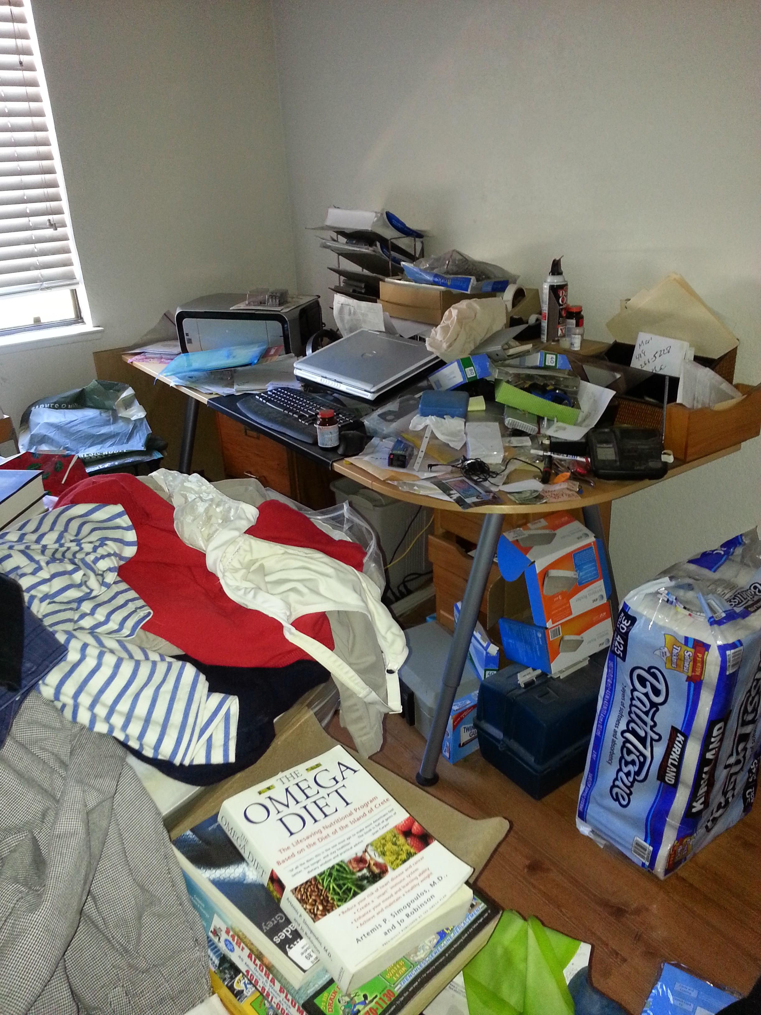 Large office before organizing