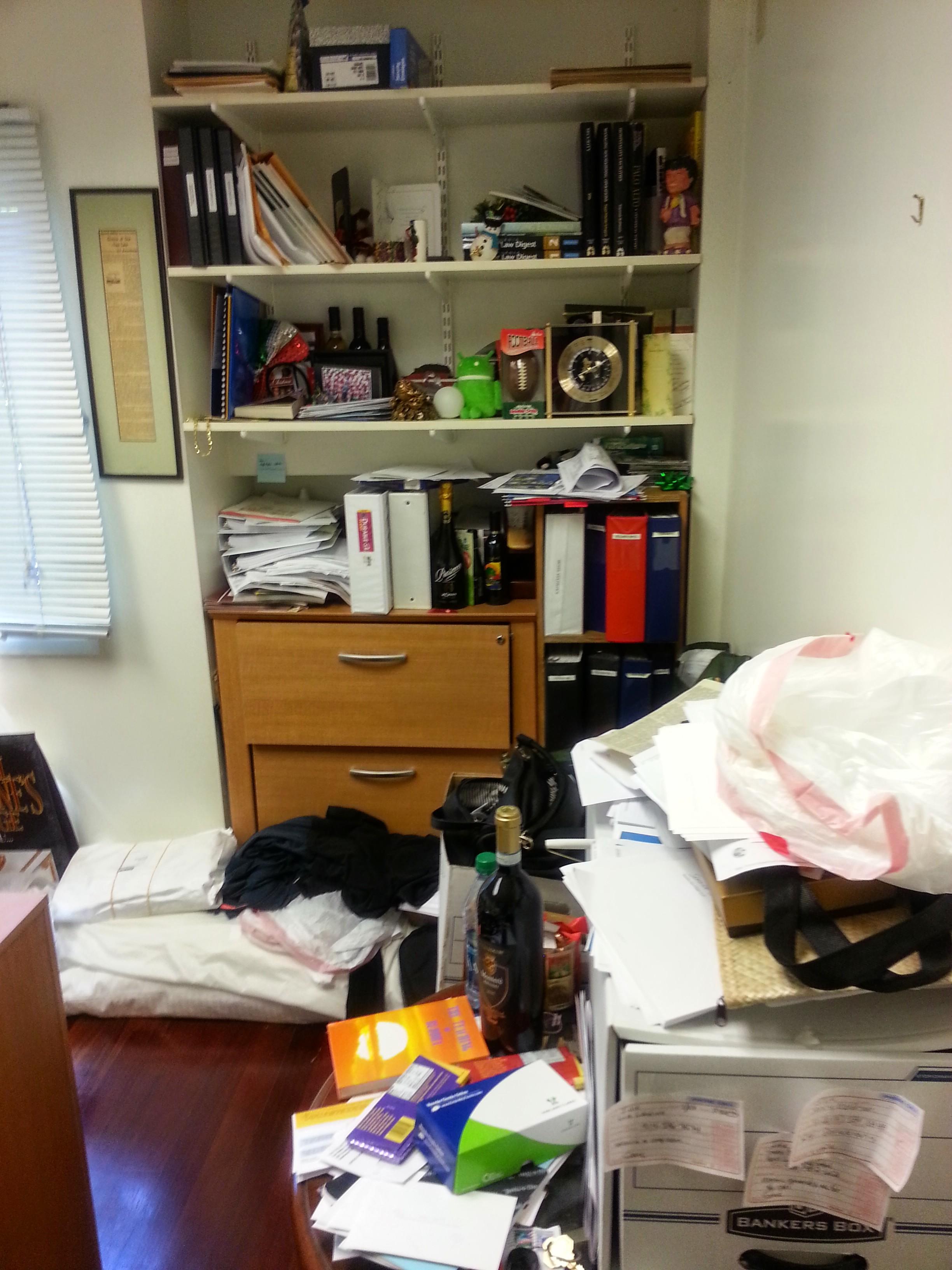 Disorganized bookcase