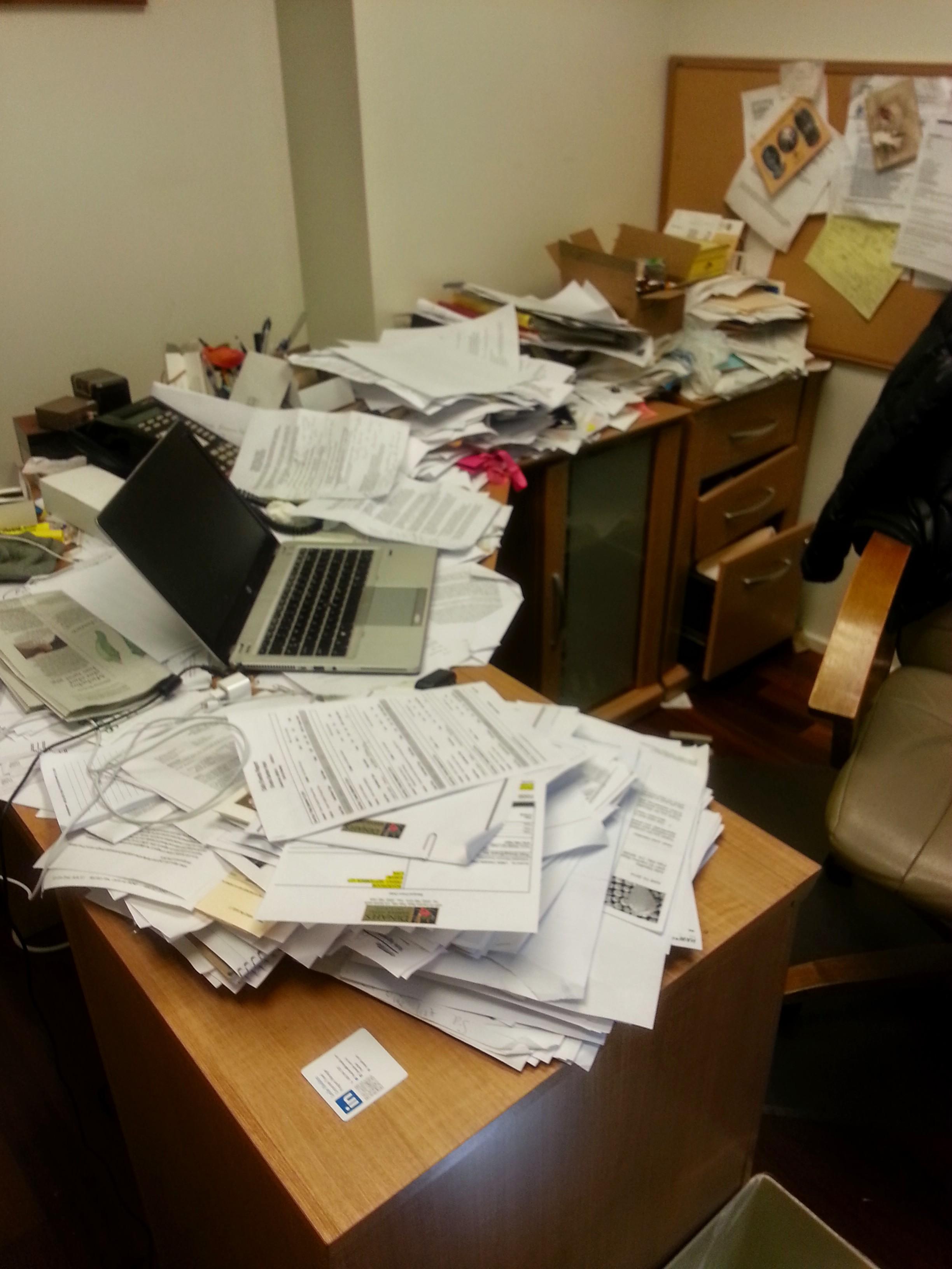 Unorganized desk