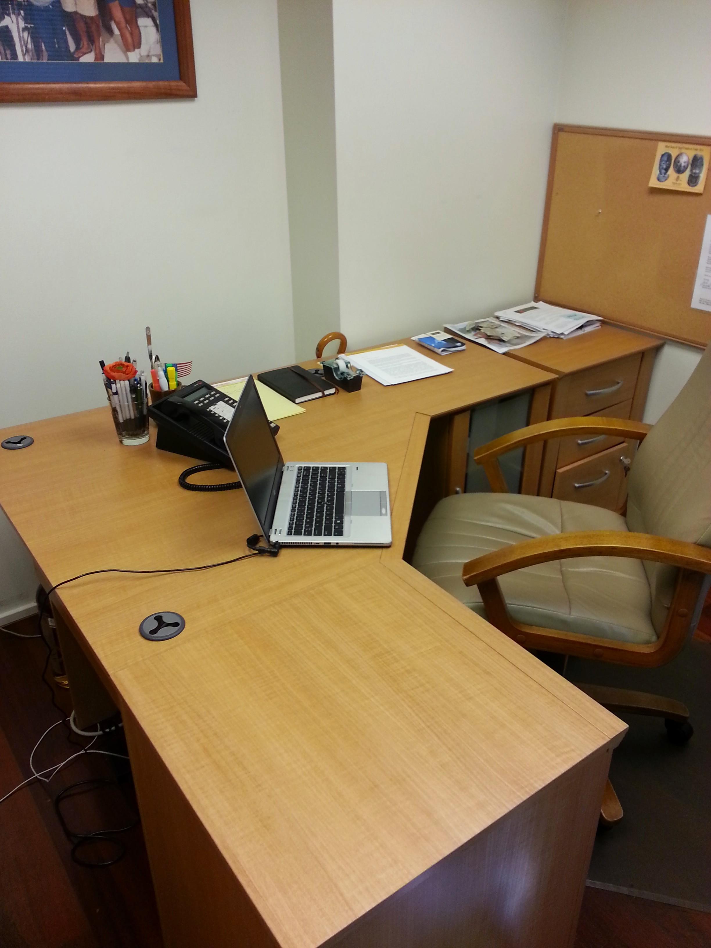 Desk after organizing