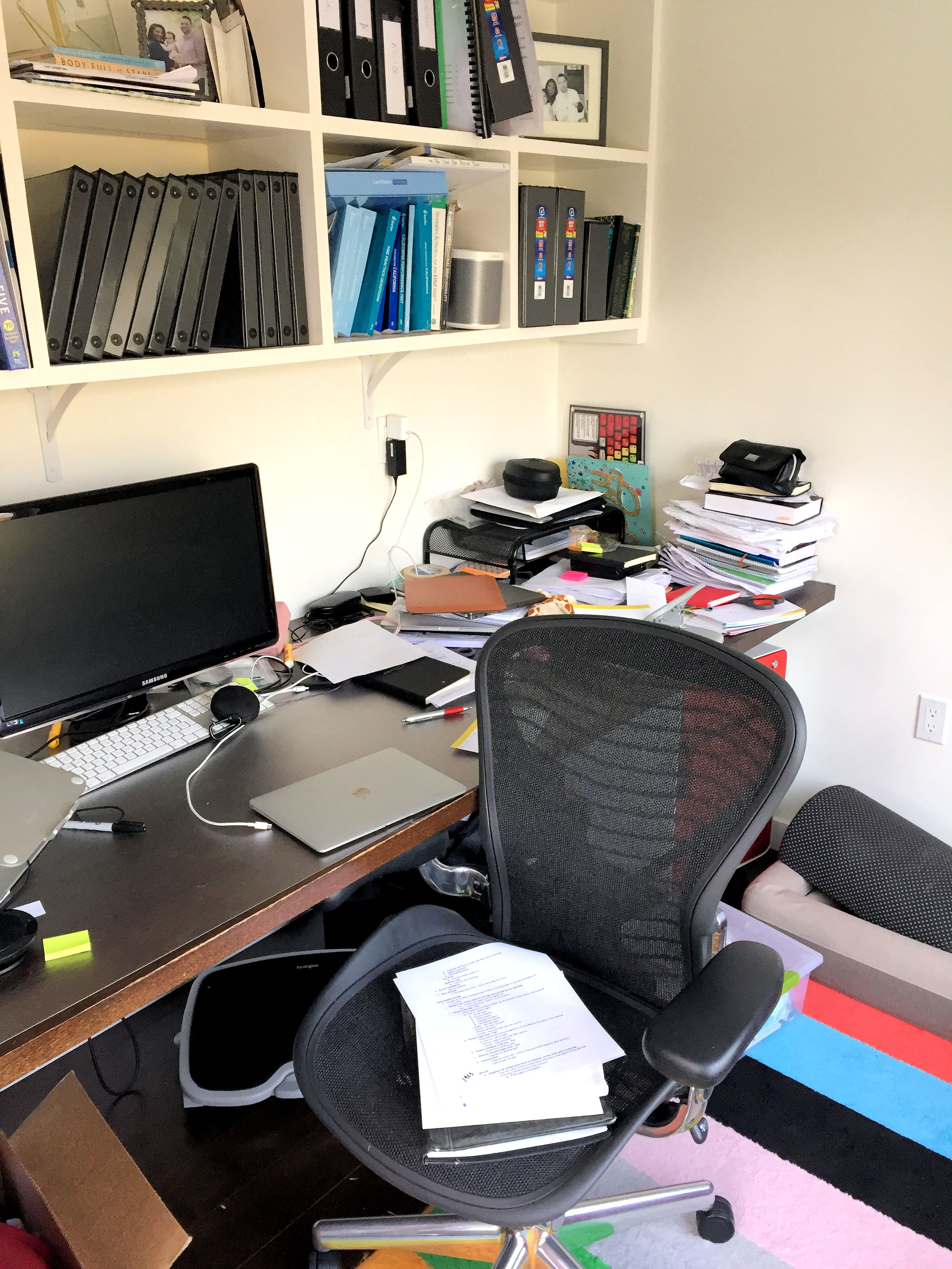 Office area before