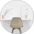 Clean, organized desk